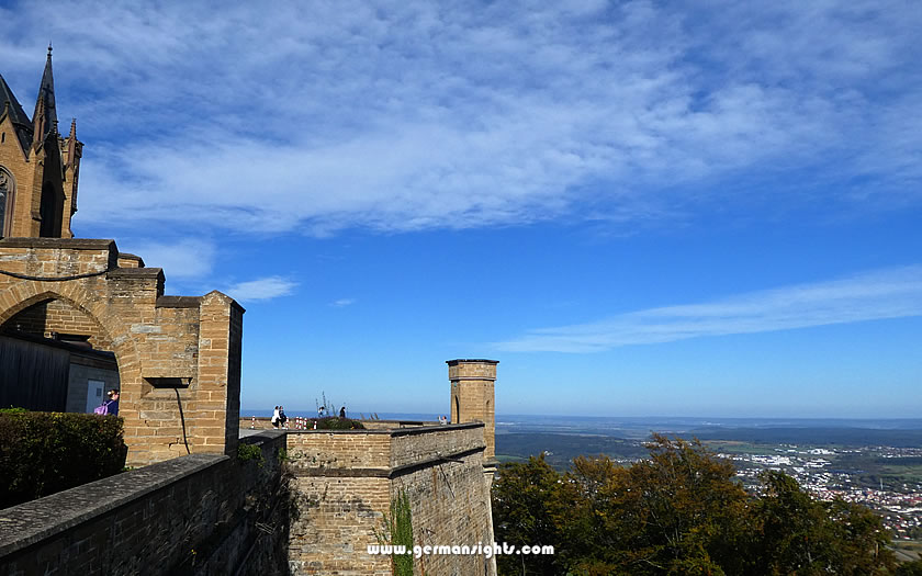 View from Hohenzollern Castle walls