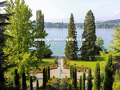 The island of Mainau in Lake Constance