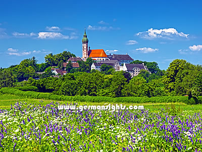 Kloster Andechs near the Ammersee lake