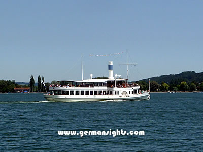 Ferry service on the Ammersee lake