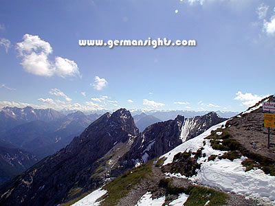 Near the border between Austria and Germany in the Karwendel mountains