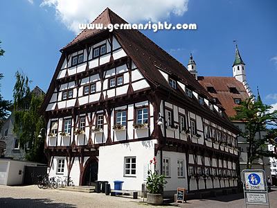 One of the timber-framed houses in Biberach an der Riss