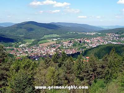 View over Bodenmais in the Bavarian Forest