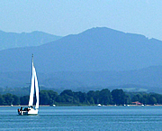 Boats on the Chiemsee