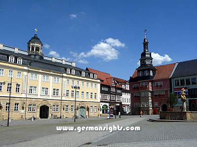 The Markt square in Eisenach, Germany