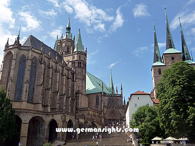 The cathedral complex in Erfurt
