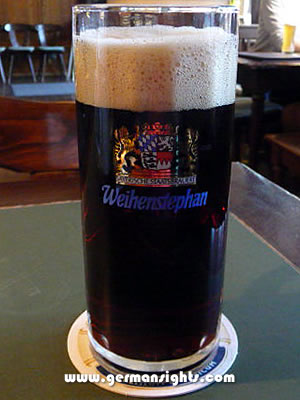 A Weihenstephan beer brewed in Freising