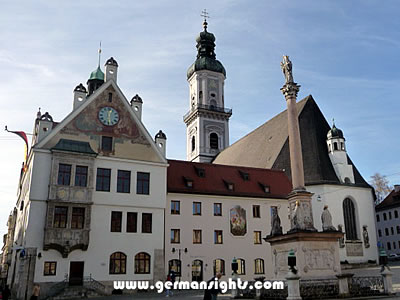 The historic town square of Freising