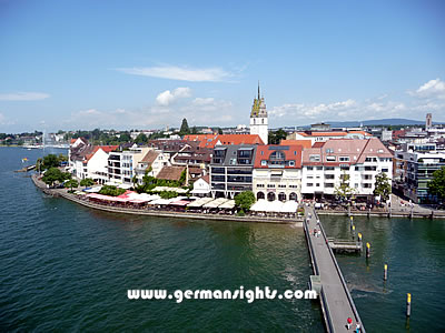 View over Friedrichshafen, Germany