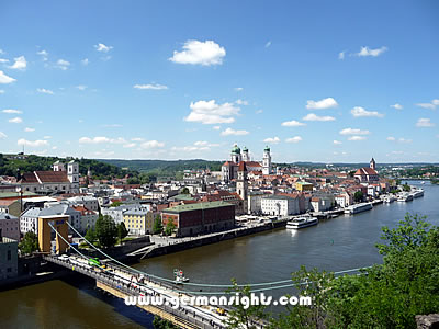 View over Passau from the Obere Veste