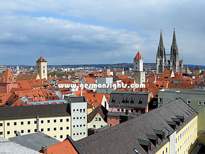 View over the Old Town of Regensburg