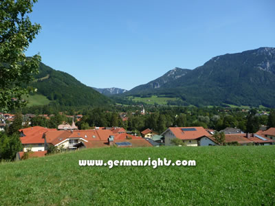 A view across Ruhpolding and the valley