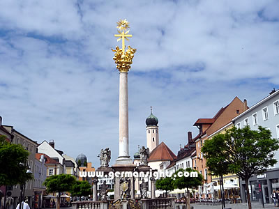 The Trinity column in Straubing
