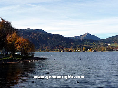 Looking over at the west bank of the lake from Tegernsee
