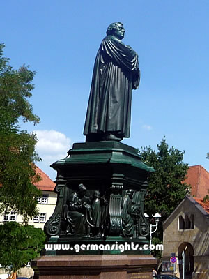 Statue of Luther in Eisenach