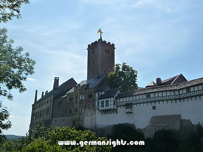 Wartburg Castle near Eisenach in Germany