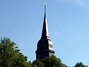 The spire of the Jakobskirche in Weimar